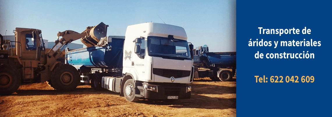 transporte de aridos y materiales de construccion mallorca